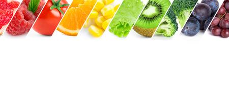 owoców: Świeże owoce i warzywa kolor. Zdrowa żywność Zdjęcie Seryjne