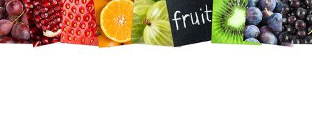 comiendo fruta: Concepto fresco frutas de color. Comida fresca Foto de archivo