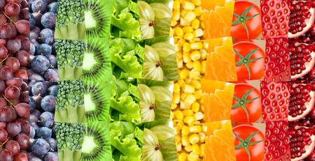 fresh concept: Fruits and vegetables background. Fresh food. Concept