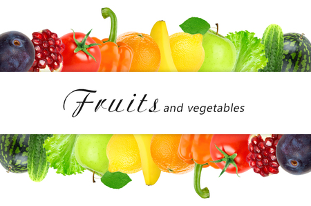 Frisches Obst und Gemüse. Gesundes Essen Konzept