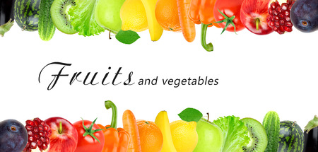 Color fruits and vegetables. Fresh food concept