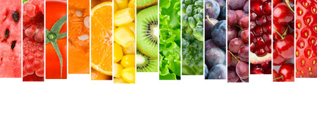 mixed fruit: Fruits and vegetables. Food concept