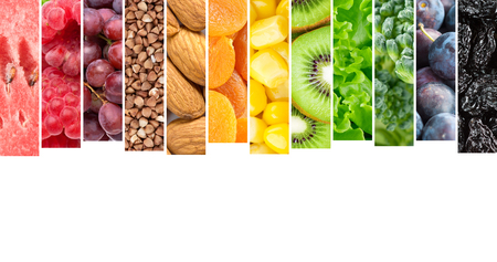 mixed fruits: Fresh healthy food. Fruit and vegetable. Food concept