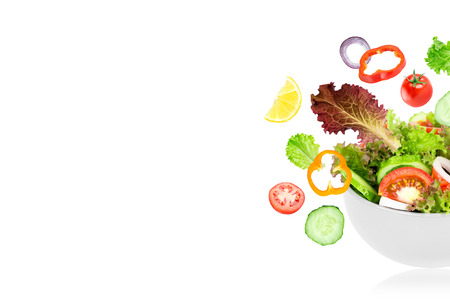 Vegetable salad. Fresh food Stock Photo