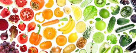 Fruits and vegetables. Fresh food background. Concept