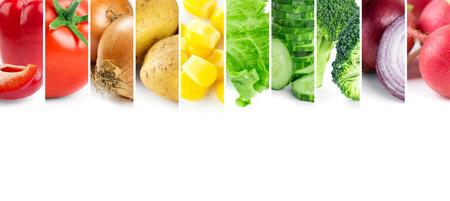 야채. 건강 식품 개념. 신선한 음식