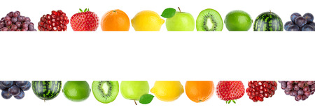 fresh concept: Color fresh fruits. Healthy food concept Stock Photo