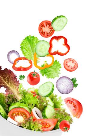 ensalada de verduras: Ensalada de vegetales. Comida fresca Foto de archivo