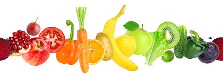 remolacha: Las frutas y verduras sin fisuras. Colección de kiwi fresco, manzana, naranja, plátano, limón, ciruela, zanahoria, pepino, lechuga, pimiento, remolacha, patata, tomate. Comida sana Foto de archivo