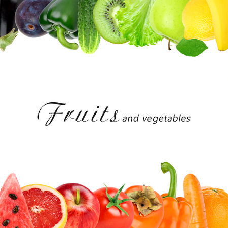 fresh concept: Color fruits and vegetables. Fresh food. Concept