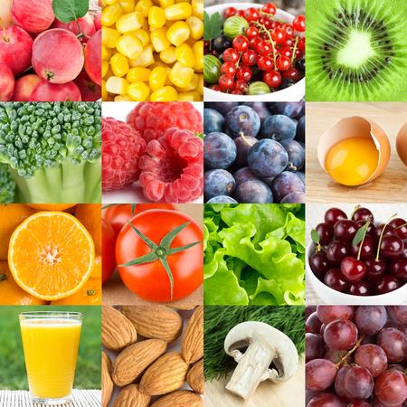 Background of fresh healthy food Foto de archivo - 99356761