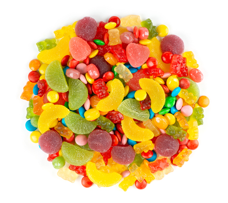 Mixed colorful candies.