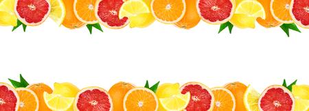 Collage of mixed citrus fruits. Fresh color fruits. Orange, lemon, grapefruit.