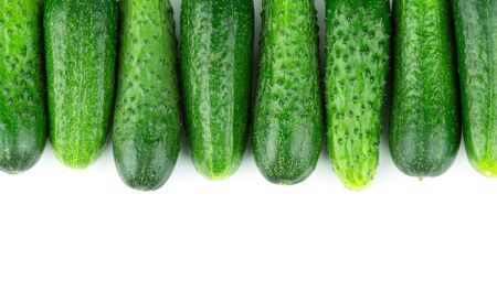 Cucumbers on white