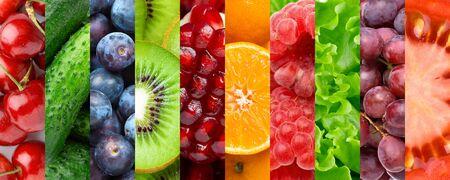 Früchte und Gemüse.