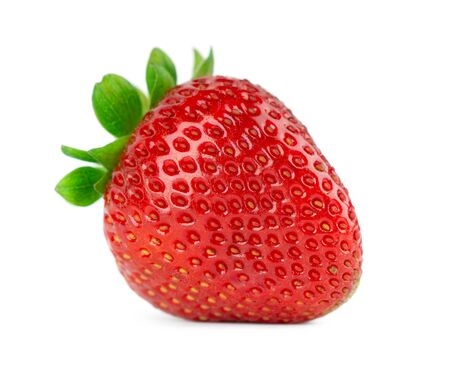 Fresh strawberry on white