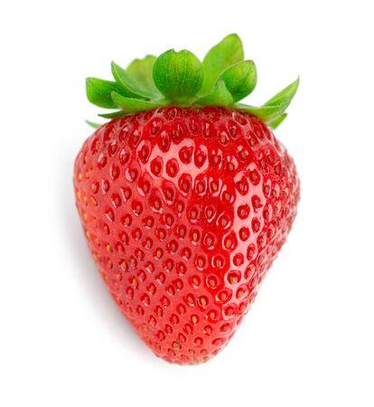 Fresh strawberry fruit on white