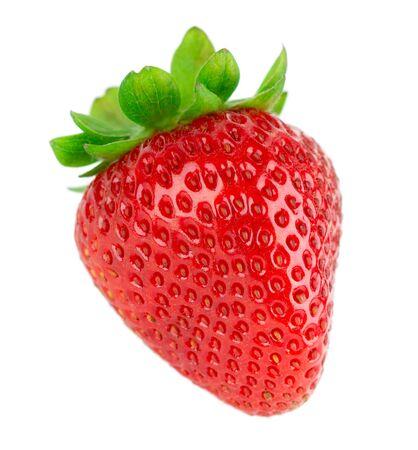 Strawberry fruit isolated on white 版權商用圖片