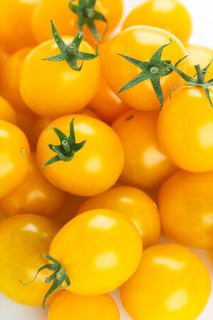 Yellow cherry fresh tomatoes