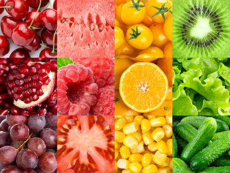 Background of fruits and vegetables. Vitamins. Fresh food