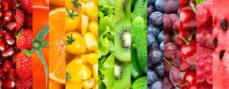Fruits and vegetables. Vitamins. Fresh food. Food background