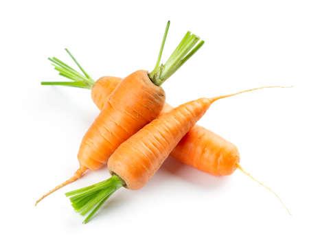 Carrot on white background. Fresh ripe vegetables 版權商用圖片