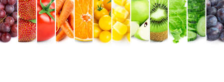 Fruits and vegetables. Fresh color food