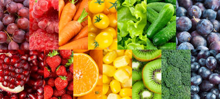 Fruits and vegetables. Background of fresh food