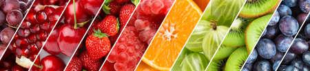 果物。生鮮食品の背景。熟した果実の色