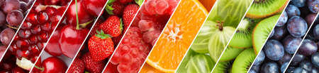 Fruits. Background of fresh food. Color ripe fruits