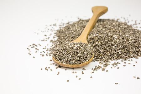 nutrientes: las semillas de chía están cargados de nutrientes al mismo tiempo ser bajo en calorías Foto de archivo