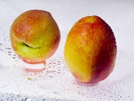 Closeup of nectarine Stock Photo