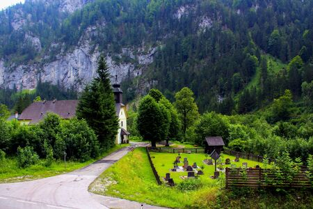 Church in Austrian Alps Stock Photo