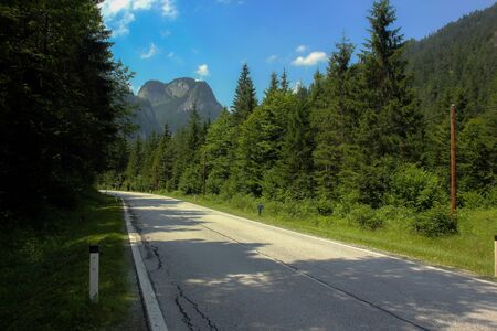 Road in Austrian Alps Stock Photo