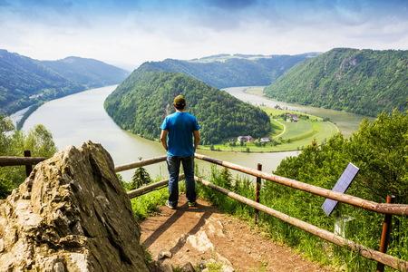 Danube river. Austria. Stock Photo