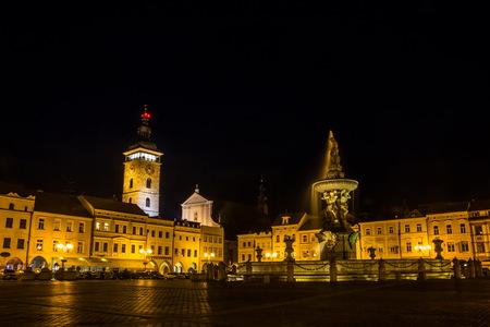 Night Ceske Budejovice. Czech Republic.