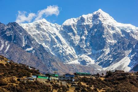 Villahe in Himalayas. Nepal. Stock Photo