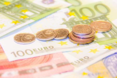 czech republic coin: Euro money and czech crown close-up