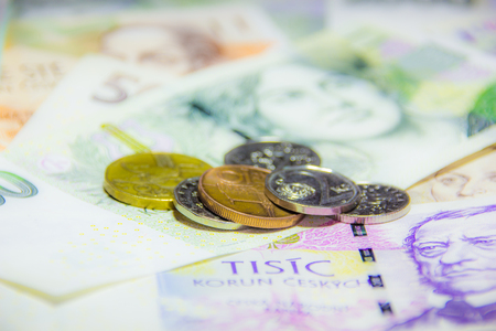 Czech money close-up