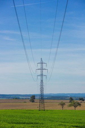 powerline: Powerline in green field