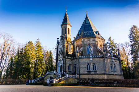 Schwarzenberg tomb in Domanin by Trebon, Czech republic Stock Photo
