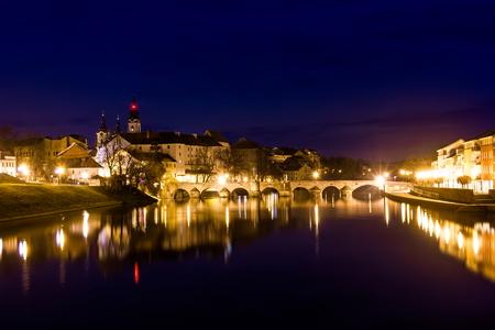 Medieval Town Pisek at the Night, Czech Republic