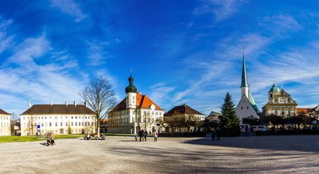 Altotting in Bavaria. Winter in Germany.