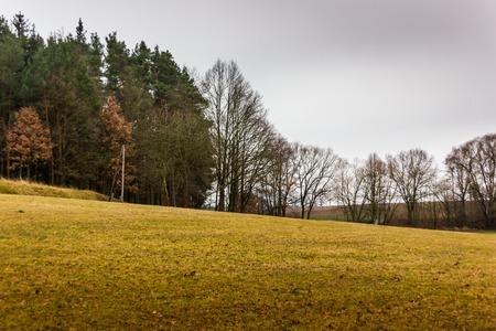 Warm winter countryside in Czech Republic Stock Photo