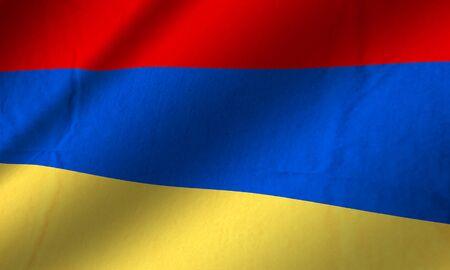 Authentic Armenia flag