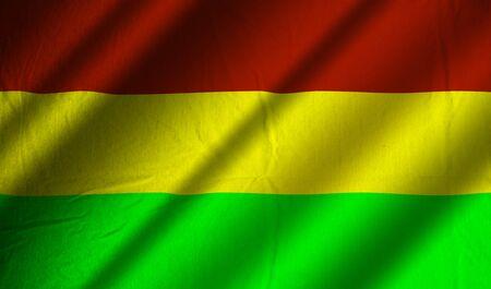 Authentic Bolivia flag