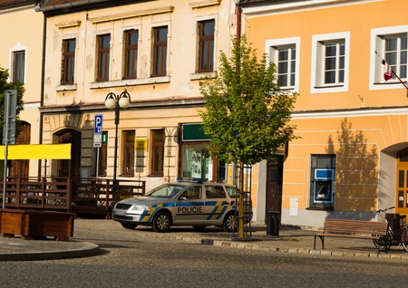 Center of Bechyne city, South Bohemia, Czech Republic.