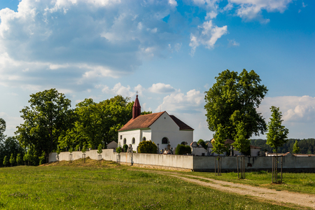 Old church - A typical medieval church in the countryside of Czech Republic