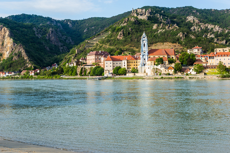 Durnstein along the Danube River in the picturesque Wachau Valley
