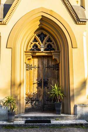 Detail of an old church or castle door Stock Photo